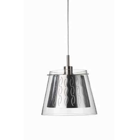 Philips Massive 40721/87/10 - Závěsný lustr CARRERAS 1xE27/60W kovově šedá