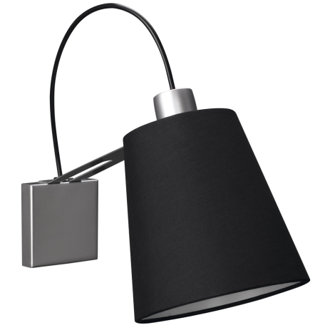 Philips Massive 45568/48/10 - Nástěnné svítidlo GAUSS 1xE14/40W černá