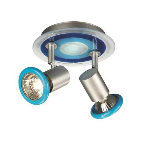 Philips Massive 54432/35/10 - Bodové svítidlo FOXY 2xGU10/50W modrá