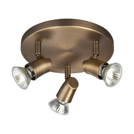 Philips Massive 54493/06/10 - Bodové svítidlo KINJA 3xGU10/50W Antická bronzová