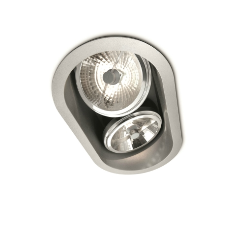 Philips Massive 57976/48/81 - Koupelnové podhledové svítidlo BELFAST 2xG53/35W/230V