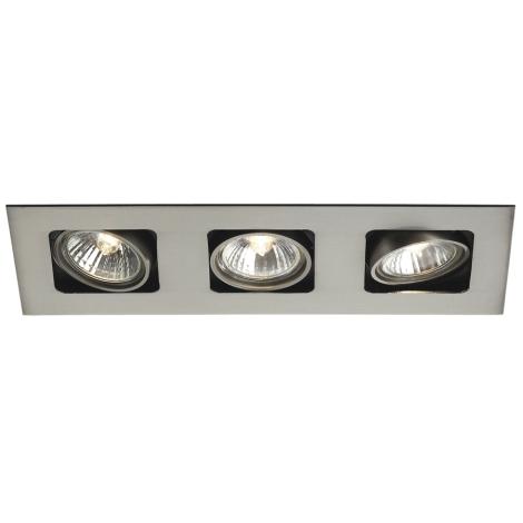 Philips Massive 59303/17/10 - Koupelnové podhledové svítidlo ARTEMIS 3xGU10/50W/230V