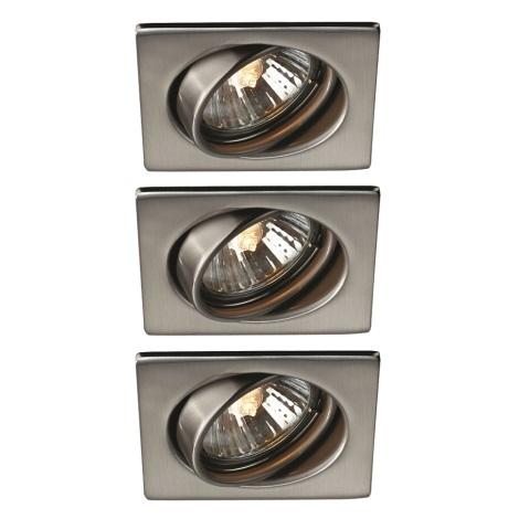 Philips Massive 59323/17/PN - SADA 3x Koupelnové podhledové svítidlo QUARTZ 3xGU10/50W/230V