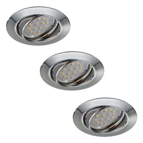 Philips Massive 59333/11/10 - SADA 3x LED koupelnové podhledové svítidlo OPAL 3xGU10/3W/230V + žárovky 3xGU10/50W ZDARMA