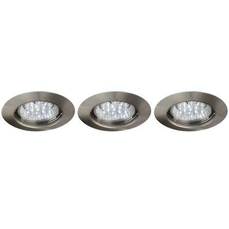 Philips Massive 59453/17/10 - SADA 3x LED koupelnové podhledové svítidlo SPARK 3xLED/1,5W/230V