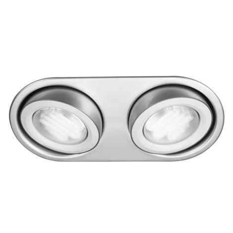 Philips Massive 59602/48/10 - Koupelnové podhledové svítidlo MONO 2xGX53/9W/230V hliník