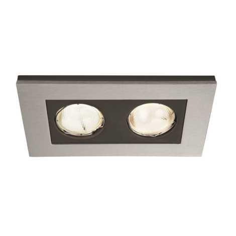Philips Massive 59652/48/10 - Koupelnové podhledové svítidlo HEKA 2xGU10/10W/230V hliník
