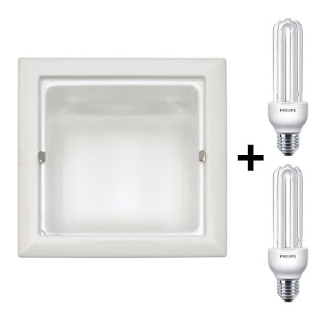 Philips Massive 59797/31/15 - Podhledové svítidlo 2xE27/23W/230V bílé