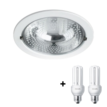 Philips Massive 59799/31/10 - Downlight RONDA 2xE27/14W bílá