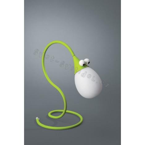 Philips Massive 66010/33/10 - Stolní lampa SNAKEY 1xG4/10W/12V zelená