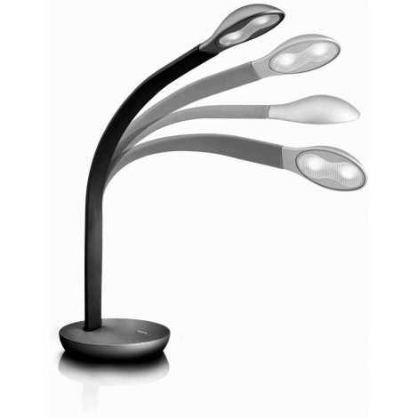 Philips Massive 66706/30/10 - LED Stolní lampa NATHAN 2xLED/2,5W černá