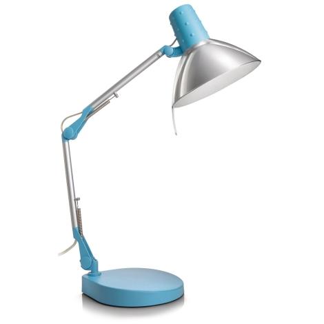 Philips Massive 67200/35/10 - Stolní lampa STUDIO 1xE14/40W modrá