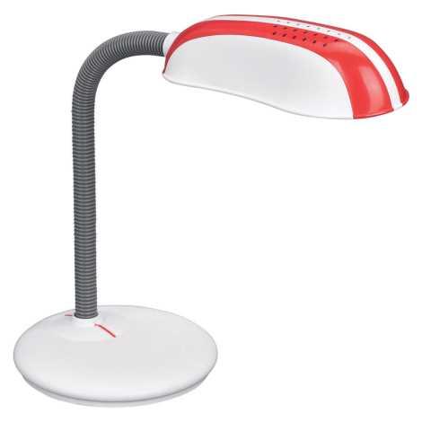 Philips Massive 67319/32/10 - Stolní lampa FRANK 1xE27/14W červená