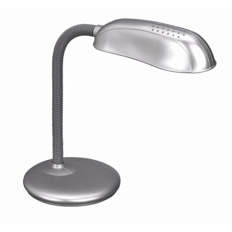Philips Massive 67319/87/10 - Stolní lampa FRANK 1xE27/14W metalicky šedá