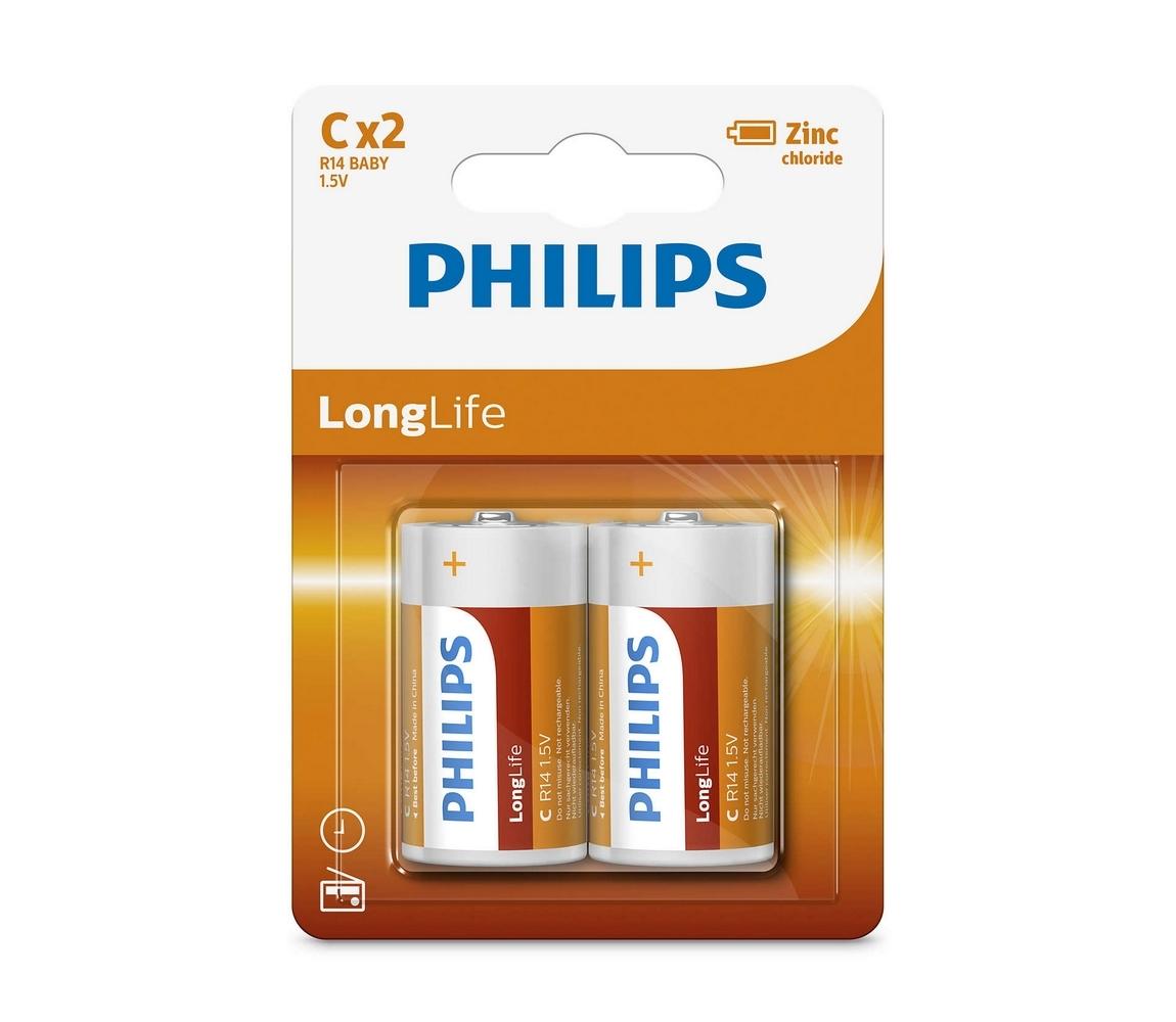 Baterie Philips LongLife C 2ks