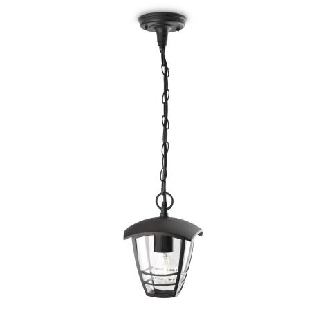 Philips - Venkovní závěsný lustr 1xE27/60W/230V černá IP44
