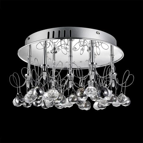 Prezent 33303 - Křišťálové stropní svítidlo LIBIANO 7xG4/20W/230V+20xLED/0,05W
