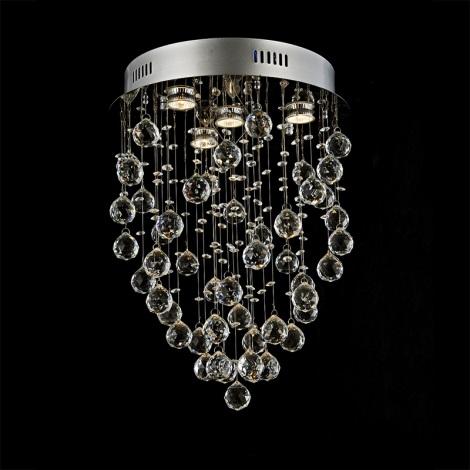 Prezent 64319 - Křišťálové stropní svítidlo TWISTER 4xGU10/50W/230V