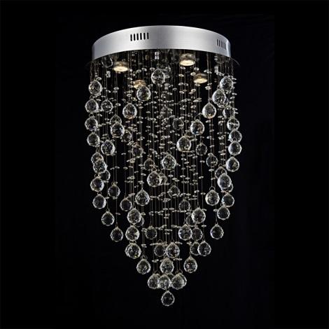 Prezent 64320 - Křišťálové stropní svítidlo TWISTER 5xGU10/50W/230V