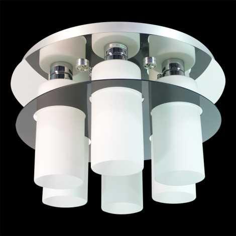 Prezent 69045 - MACAO Stropní přisazené svítidlo 6xE27/60W+6xLED/3W/230V