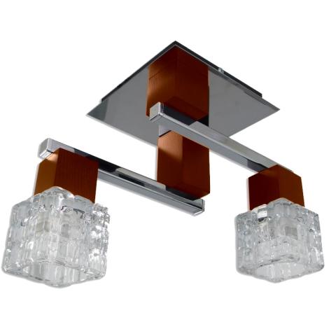 Přisazený lustr RIVA 2xE14/40W třešeň