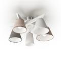 Přisazený lustr YOKE 5xE14/40W/230V bílé dřevo