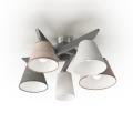 Přisazený lustr YOKE 5xE14/40W/230V šedé dřevo
