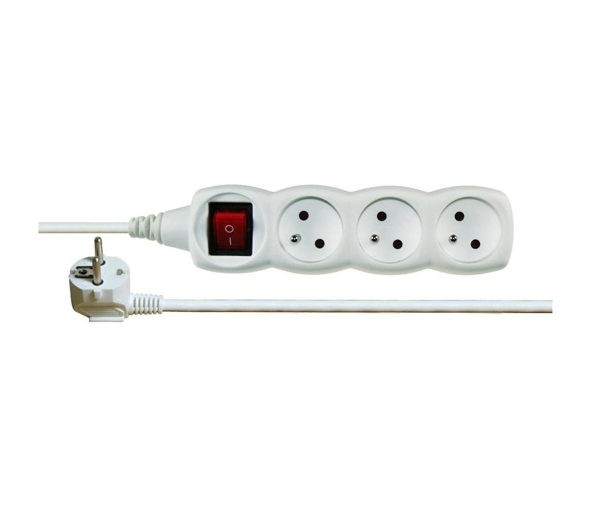 EMOS Prodlužovací kabel s vypínačem 3Z 5m