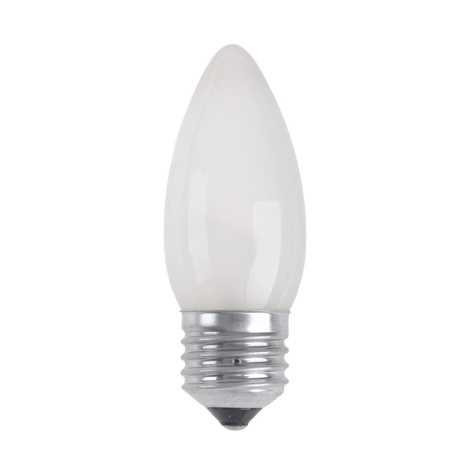 Průmyslová žárovka CANDLE FROSTED E27/25W/230V