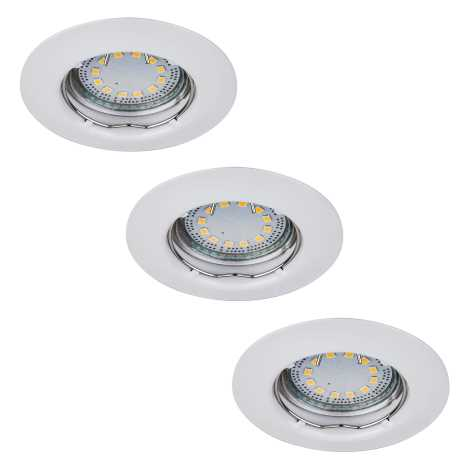 Rabalux 1046 - SADA 3x LED podhledové svítidlo LITE 3xGU10-LED/3W/230V