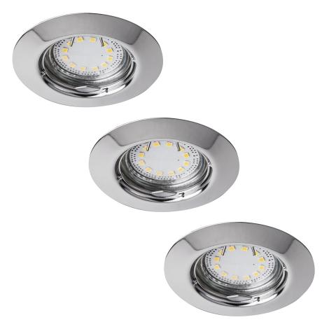 Rabalux 1047 - SADA 3x LED podhledové svítidlo LITE 3xGU10-LED/3W/230V