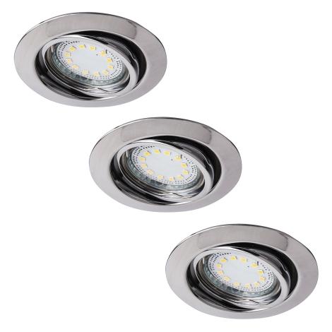 Rabalux 1050 - SADA 3x LED podhledové svítidlo LITE 3xGU10-LED/3W/230V