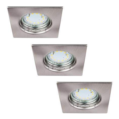 Rabalux 1054 - SADA 3x LED podhledové svítidlo LITE 3xGU10-LED/3W/230V