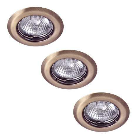 Rabalux 1105 - SADA 3x Podhledové svítidlo SPOT LIGHT 3xGU10/50W/230V