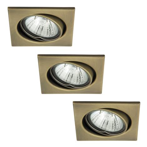 Rabalux 1135 - SADA 3x Podhledové svítidlo SPOT LIGHT 3xGU10/50W/230V