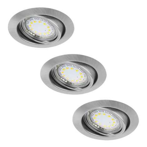 Rabalux 1166 - SADA 3x LED podhledové svítidlo LITE 3xGU10-LED/3W/230V