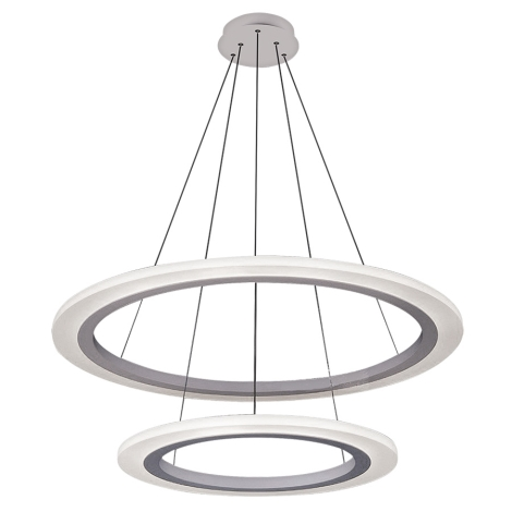 Rabalux 2429 - LED Lustr ADRIENNE LED/62W/230V stříbrná