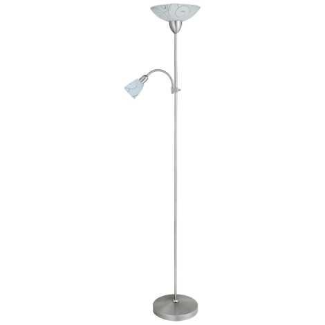 Rabalux 4091 - Stojací lampa HARMONY LUX 1xE27/100W + 1xE14/40W