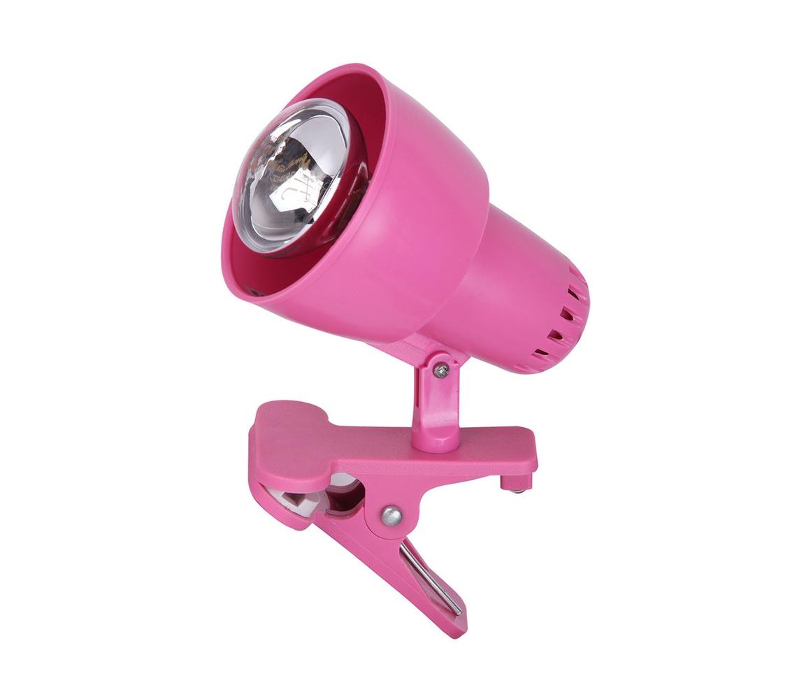 Rabalux Rabalux 4359 - Lampa s klipem CLIP 1xE14/40W/230V růžová RL4359