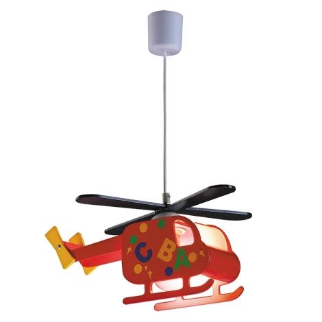 Rabalux 4717 - Dětský lustr HELICOPTER 1xE27/40W/230V