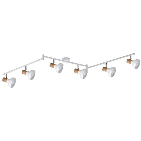 Rabalux 5948 - Bodové svítidlo HOLLY 6xE14/40W/230V bílá