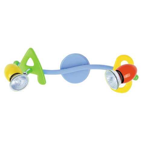 Rabalux 6682 - Dětské bodové svítidlo ABC 2xGU10/50W/230V