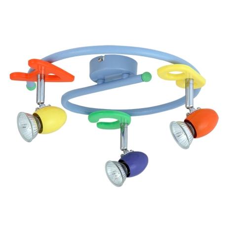 Rabalux 6683 - Dětské bodové svítidlo ABC 3xGU10/50W/230V