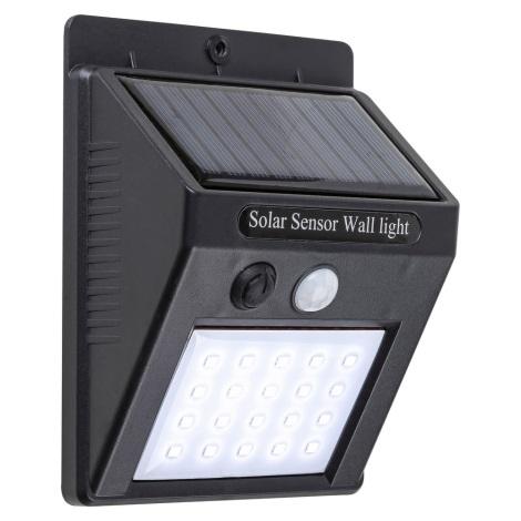 Rabalux 7933 - LED Venkovní solární svítidlo se senzorem OSTRAVA LED/2W/230V IP65