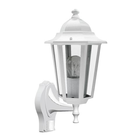 Rabalux 8216 - Venkovní nástěnné svítidlo s čidlem VELENCE 1xE27/60W/230V