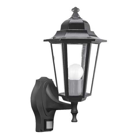 Rabalux 8217 - Venkovní nástěnné svítidlo s čidlem VELENCE 1xE27/60W/230V