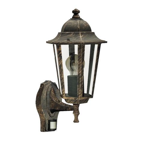 Rabalux 8218 - Venkovní nástěnné svítidlo s čidlem VELENCE 1xE27/60W/230V