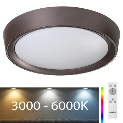 Rabalux - LED RGB Stmívatelné stropní svítidlo LED/24W/230V + DO 3000-6000K