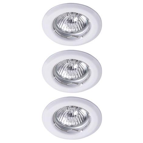Rabalux - SADA 3x LED Koupelnové podhledové svítidlo SPOT LIGHT 3xGU10/6W/230V + 3xGU10/50W