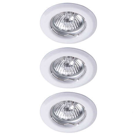 Rabalux - SADA 3xLED Koupelnové podhledové svítidlo 3xGU10/6W/230V + 3xGU10/50W